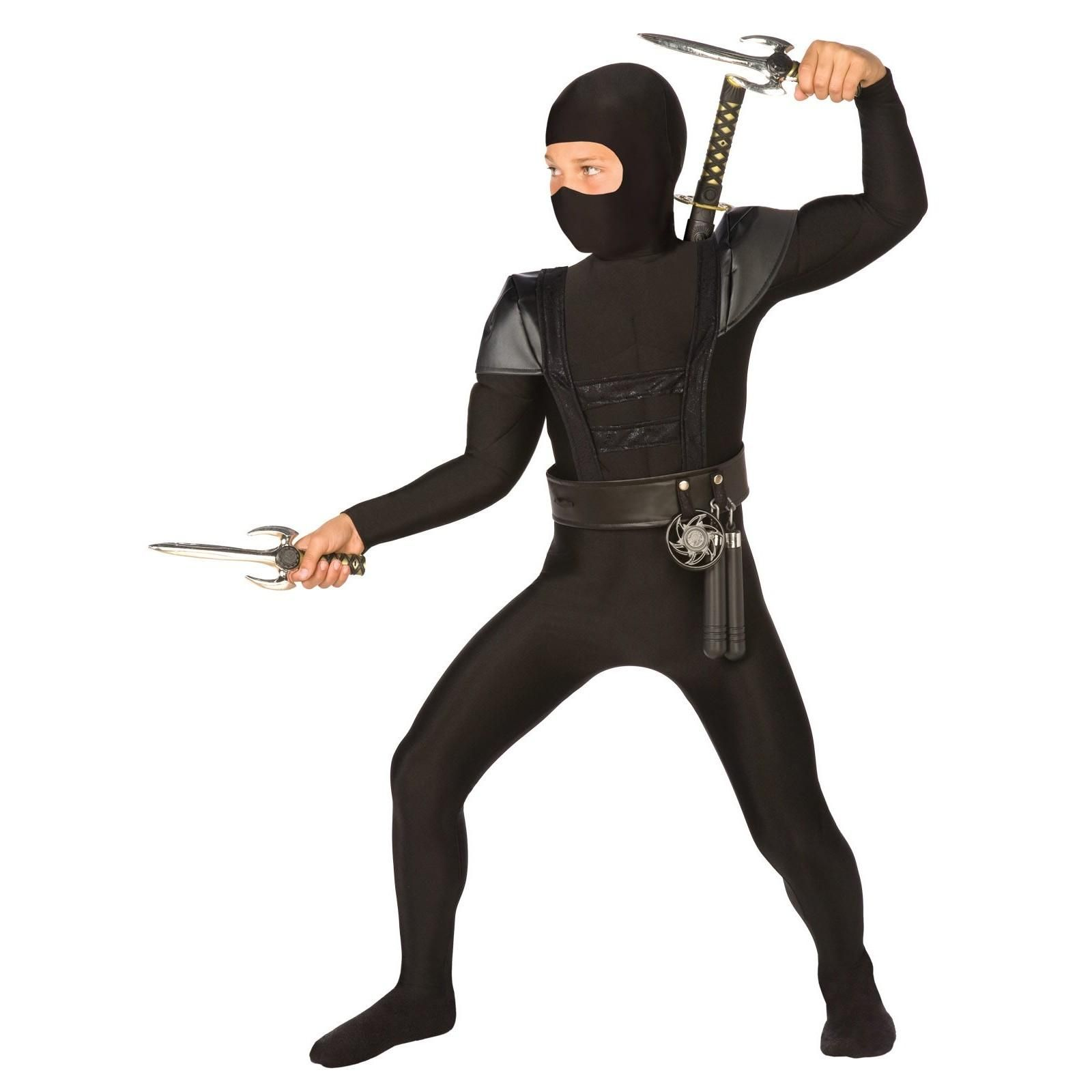 Black Fighter Ninja Child Costume  sc 1 st  Pinterest & Black Fighter Ninja Child Costume | Dress Up | Pinterest | Children ...