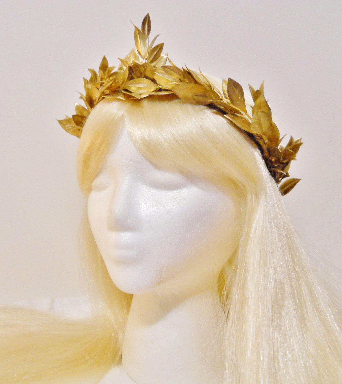 Gold Laurel Leaf Headband Grecian Headdress Roman Hair Crown Festival Women UK