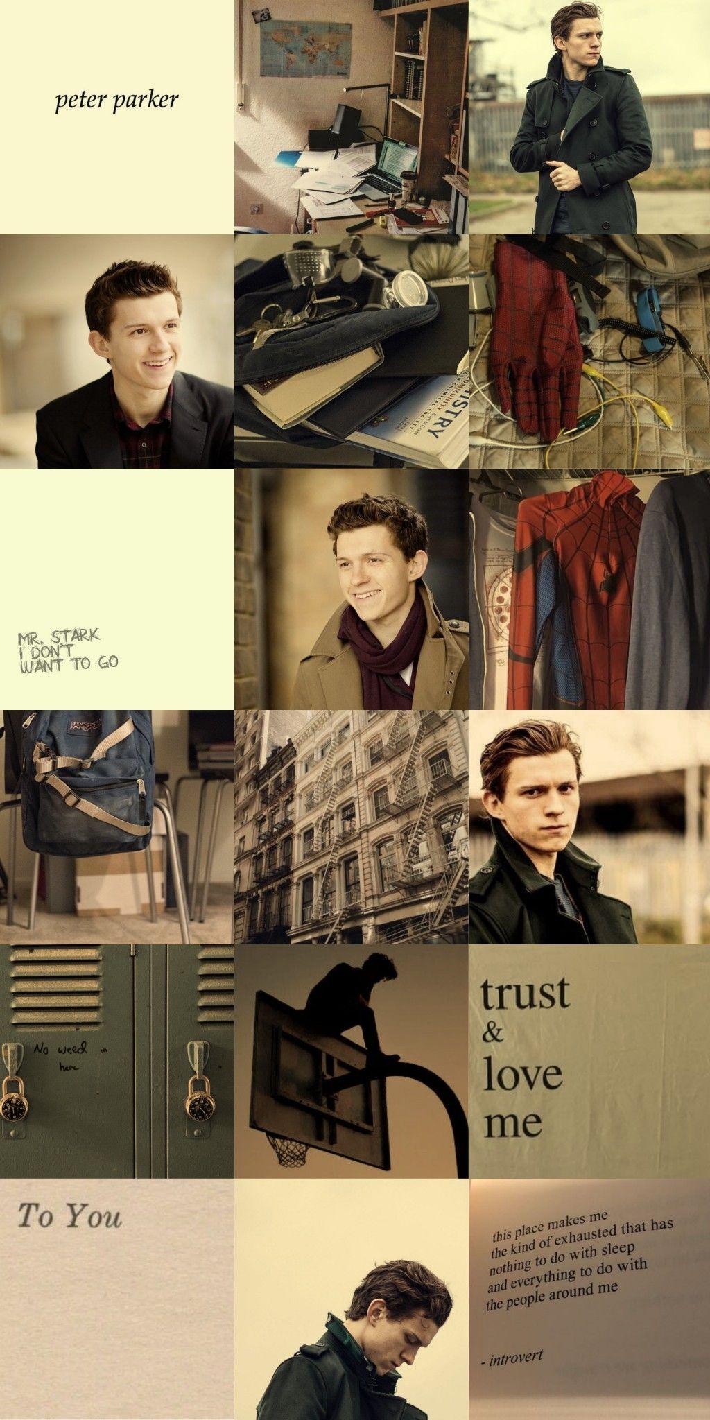 Wallpaper Tom Holland Peter Parker Spiderman Tom Holland