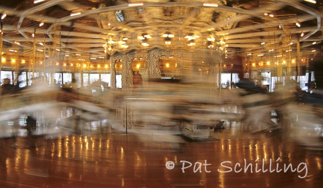 """On A Carousel"", Looff Carousel in Riverfront Park, Spokane, WA  Photo © 2009 Pat Schilling. www.patschilling.com"
