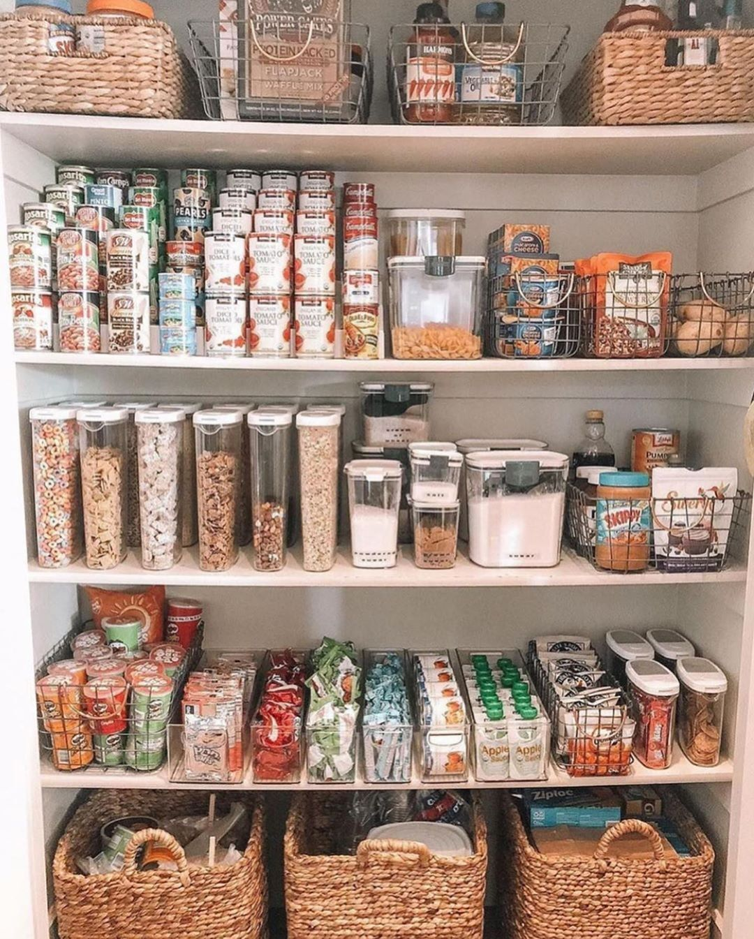 Does anyone else just get giddy when they see a pantry this organized? I cannot wait to get my Butler's pantry finished and organized! I cant install my uppers until the countertops are set but swipe for a sneak of the lowers! . . . source unknown dm for credit! #butlerspantry #pantryorganization #kitchendesign #modernfarmhouse #farmhousedesign #customhome #customdesign #dreamhome #designidea #makehomeyours #smmakelifebeautiful #interiordesign #f #pantryorganizationideas