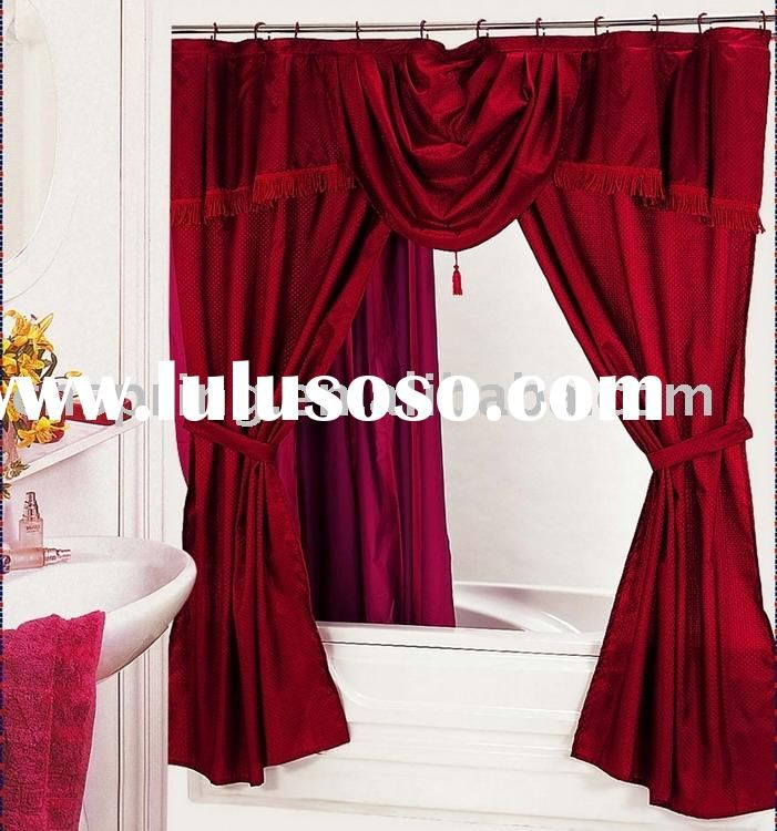 Home Furniture Decoration Shower Curtains With Valance Attached