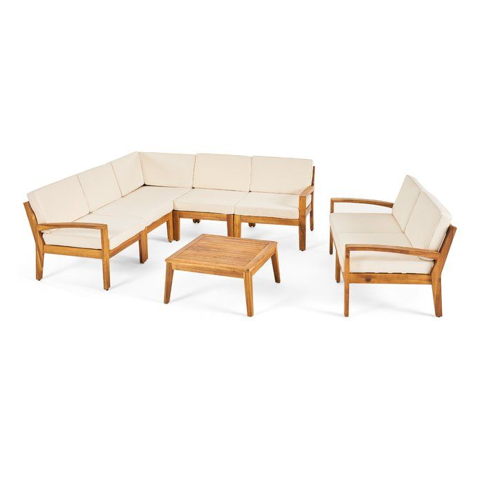 Jamie 7 Piece Sectional Seating Group With Cushion Allmodern Patio Furniture Sets Outdoor Sofa Sets Seating Groups