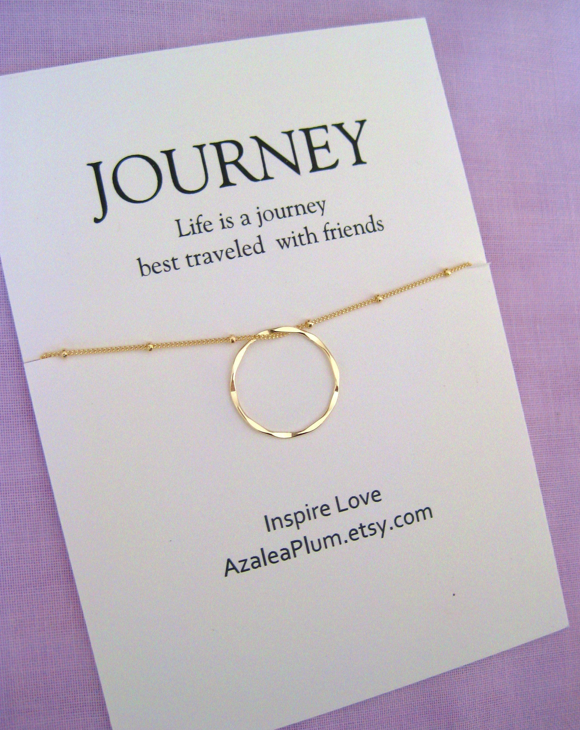 40th Birthday Gift Necklace Jewelry For Her Best Friend Gold Circle