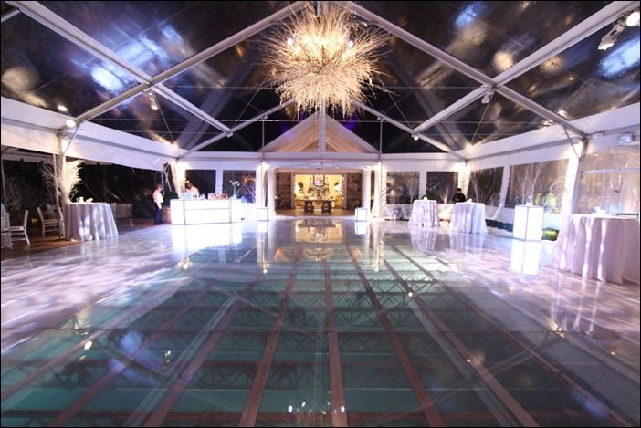 For The Reception Glass Dance Floor Over Pool A