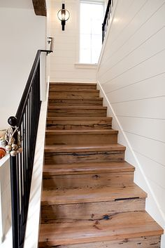 Shiplap Staircase Google Search Stairs Home Modern Farmhouse