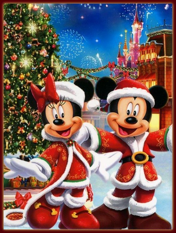 christmas disney mickey minnie mouse christmas. Black Bedroom Furniture Sets. Home Design Ideas