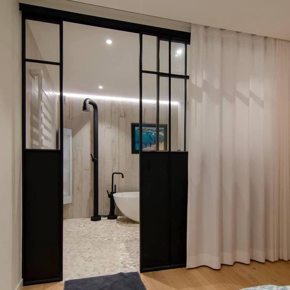 Glazen Wand Vitrinekast.Schuifdeur Badkamer Slaapkamer Vaste Glazen Wand Stalen Vitrine