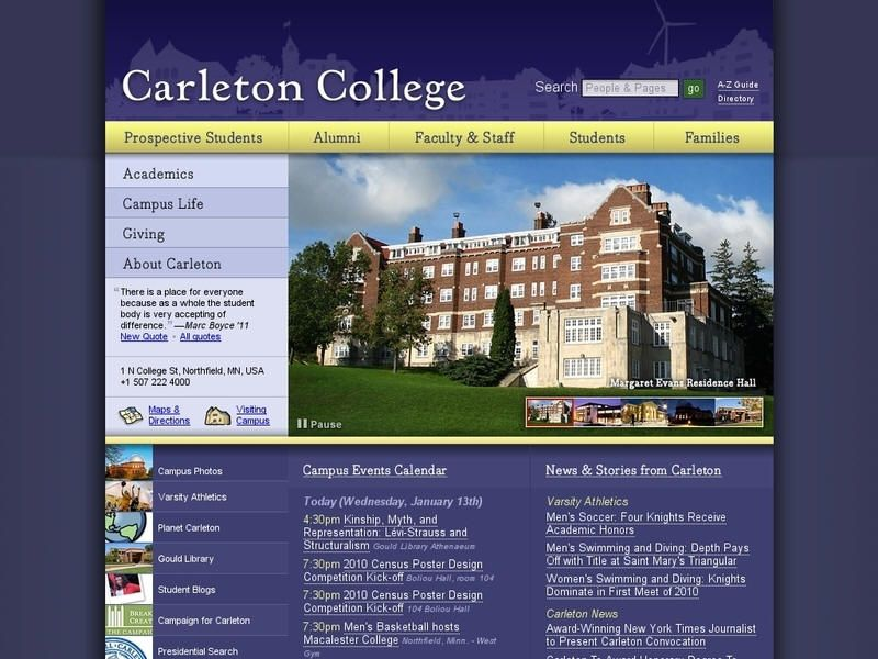 Carleton college carleton college college search