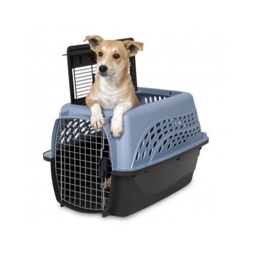 Pet Kennel Two Top Load Door Dog Cat Crate Cage 24 Inch Travel Petmate Folding #Petmate