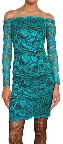 540f28deac092 EMILIO PUCCI Guipure Viscose Lace Dress - Lyst beautiful dress ...no no no  to the hosery