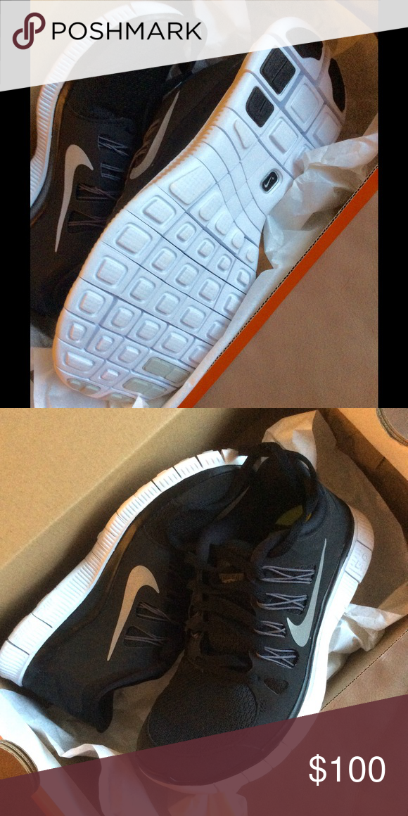 New Nike Free run 5.0 plus black white Brand new in box. The most  comfortable 97f9205db2ac