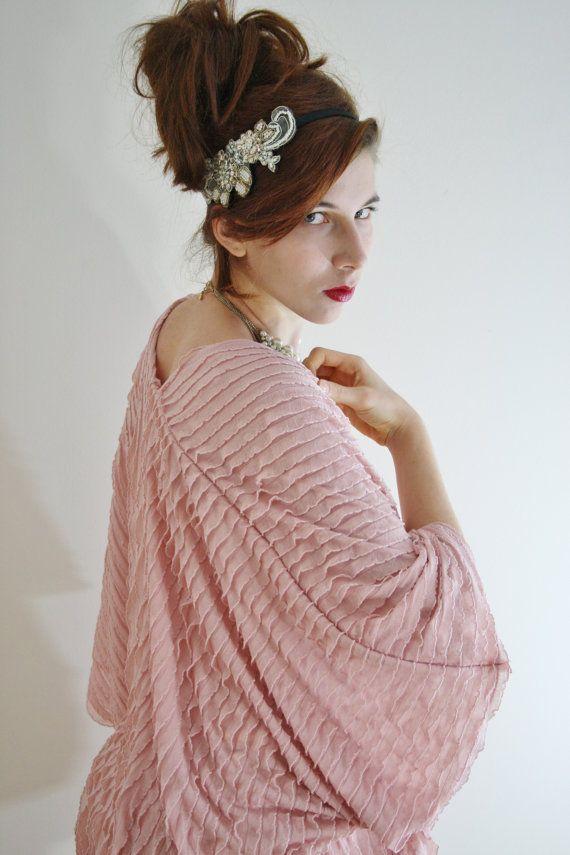 Kimono jacket blush Kimono robe Kimono by WildRoseAndSparrow