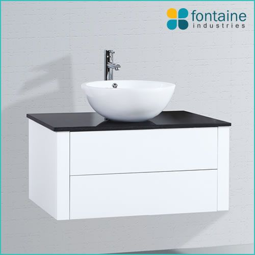 bellagio 900 wall mounted bathroom vanity round ceramic basin stone top push open drawers popular modern