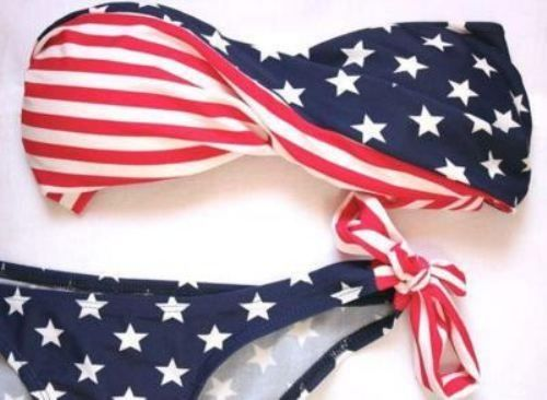 american flag bathing suit. <3