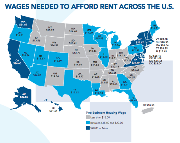 How much must you earn in Louisiana to rent a 2bedroom
