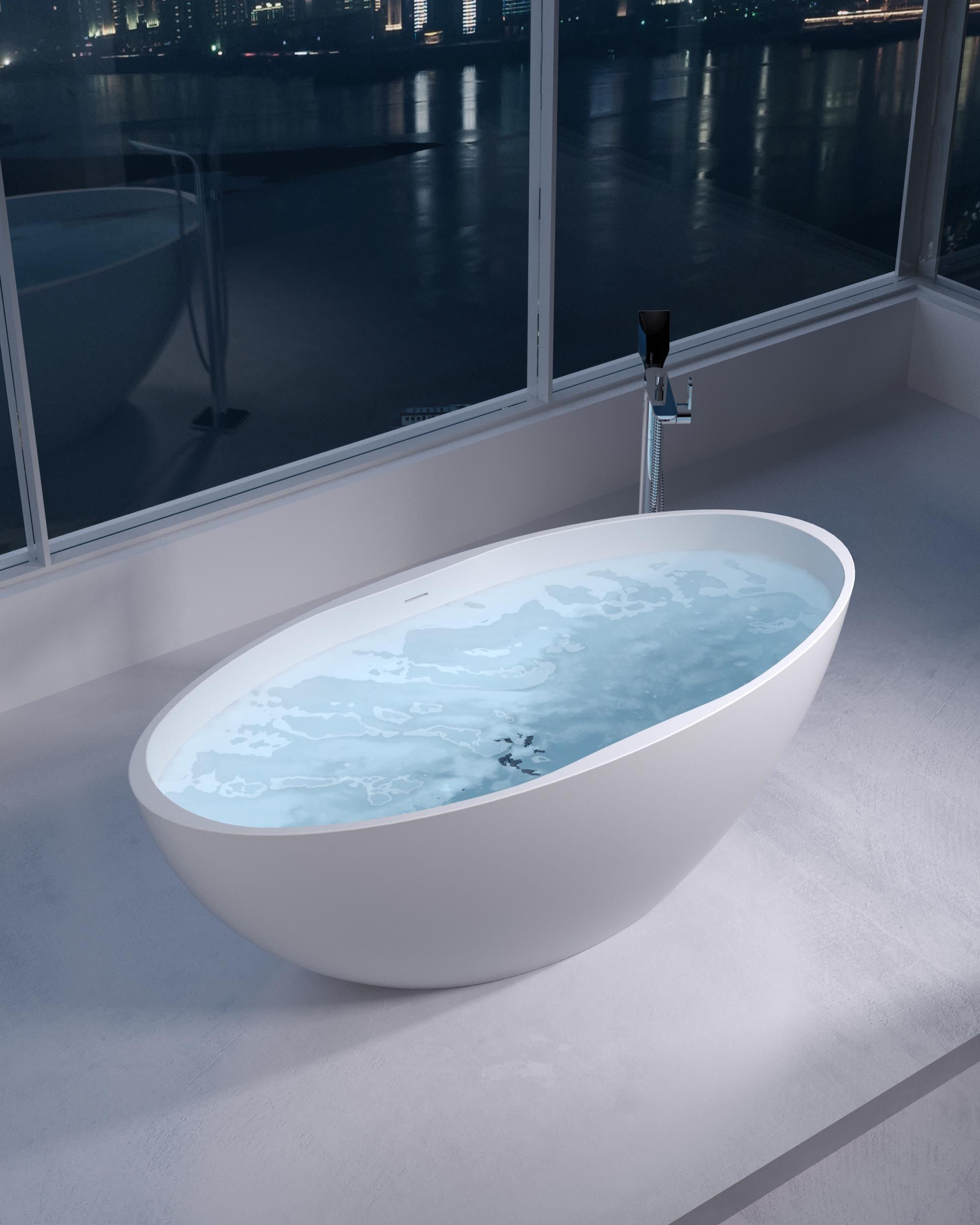 Adoro Freestanding Bathtub Florence Oval in solid surface | Adoro ...