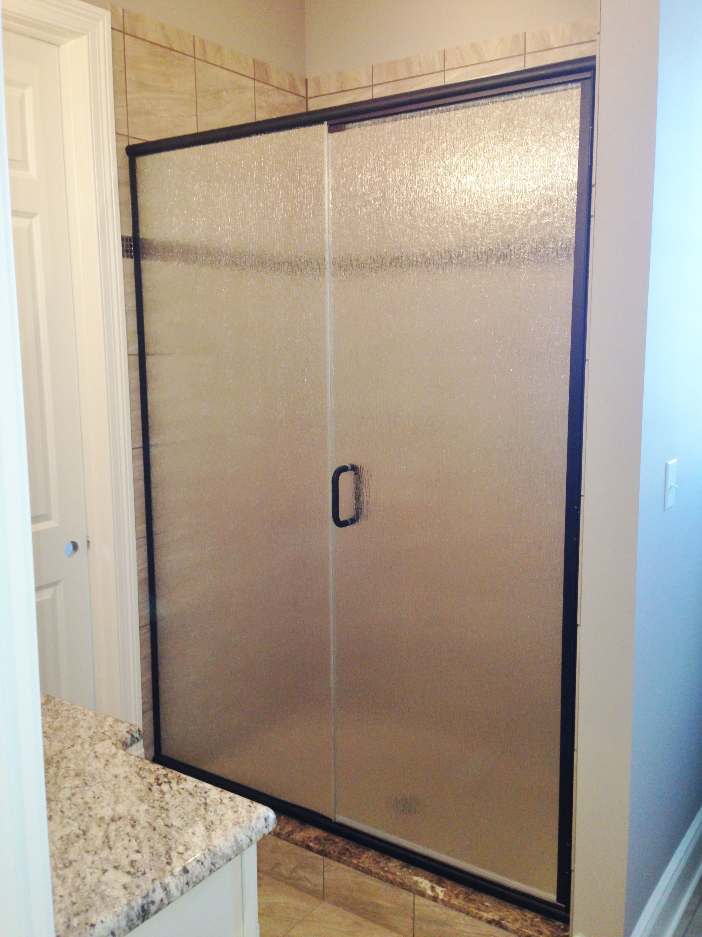 Semi Frameless Shower Enclosure Door Panel With Rain Glass