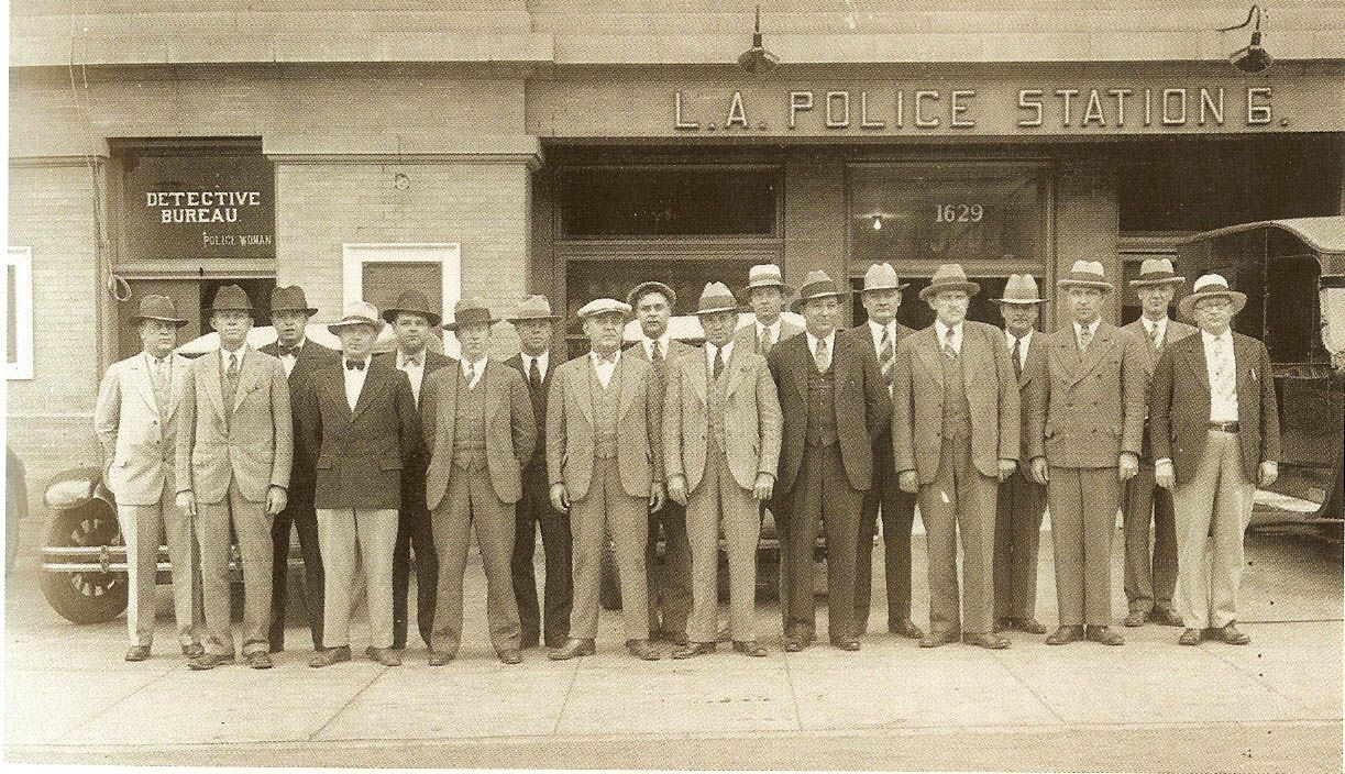 Lapd Detective Squad 1930 Los Angeles Police Department Los Angeles Los Angeles History