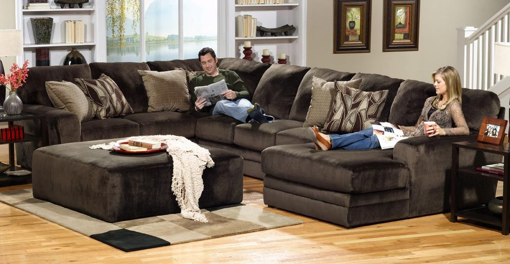 Jackson Everest Customizable Sectional Sofa Set B Chocolate Warm Living Room Design Stylish Living Room Jackson Furniture