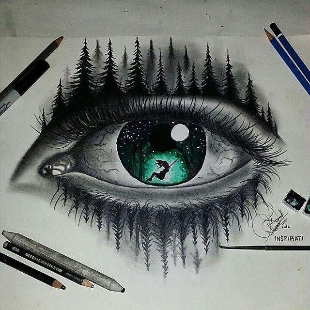 Photo of Unité artistique sur Instagram: «» Sentez la nature «😱! Oeil double exposition incroyable par @_gerzonart. . Suivez @ art.desires 🔥. . Partagé par @art_by_fabian. . Marquez votre… »