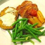 Andebryst med grøntsagsrösti, sauterede bønner og peberfrugt #andebrystopskrift