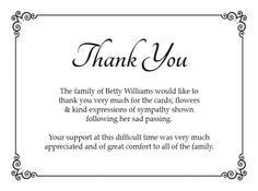 funeral thank you card ideas google search