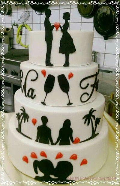 Hochzeitstorte Eskuvo Pinterest Hochzeitstorten Und Einfach
