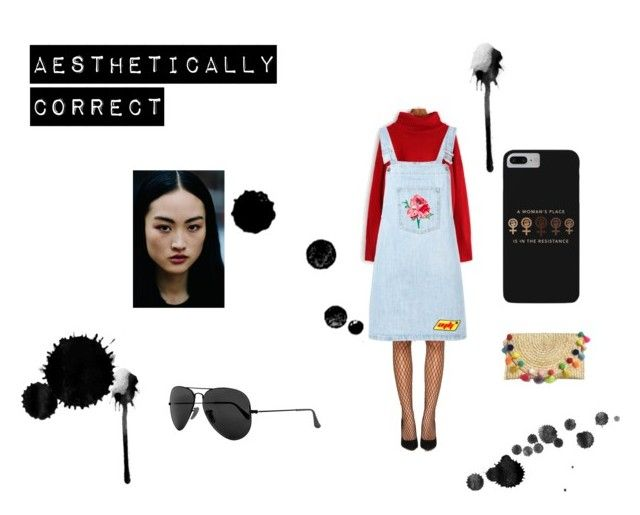 """""""Aesthetically Correct"""" by eznai ❤ liked on Polyvore featuring Nasty Gal, Au Jour Le Jour, Ray-Ban, coachella, fashionset, aesthetic and shein"""