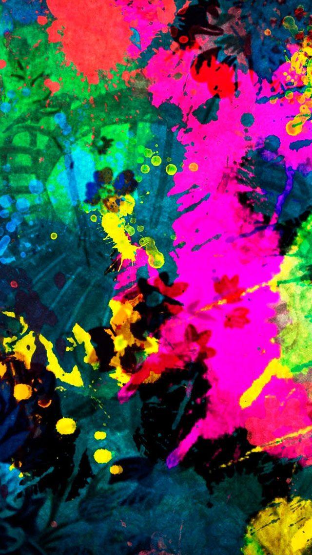 Colorful Paint Splatter IPhone 5s Wallpaper