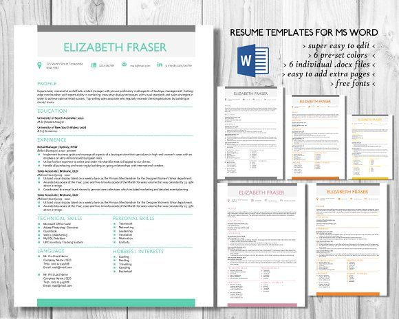 Simple resume template Word format