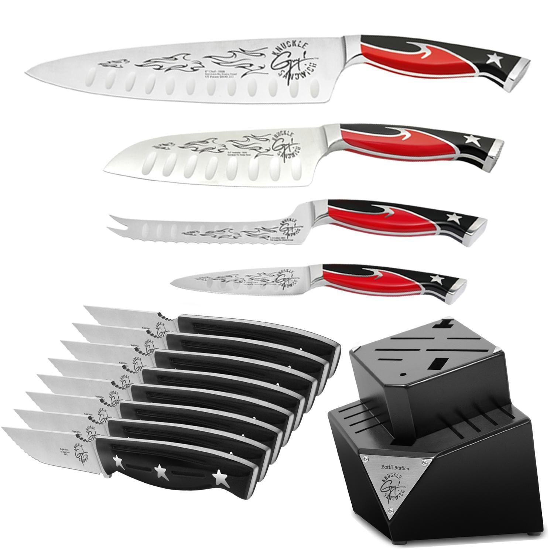 Guy Fieri 13-piece Knife and Block Set by Guy Fieri | Kitchen knifes ...