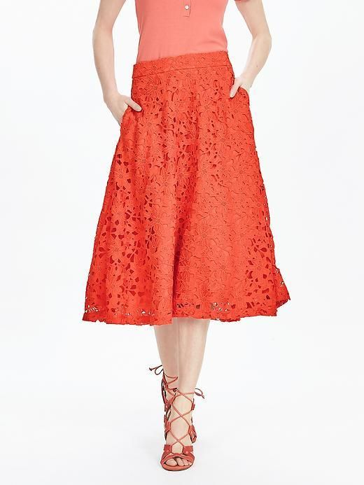 Red Lace Midi Skirt | Skirts | Pinterest | Blog page, Lace and ...