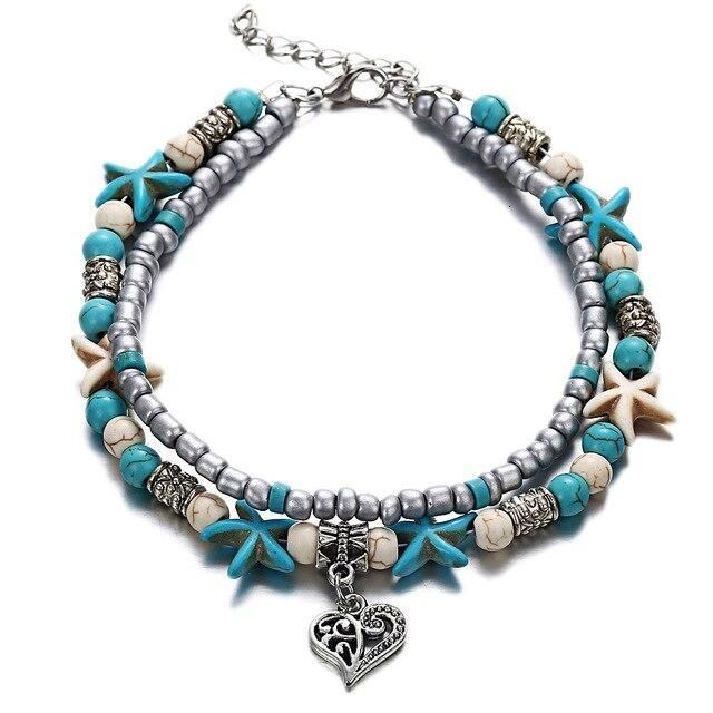 Fashion Double Layer Anklet for Fashionistas. Gift for Best Friend, Wife, Mom, Aunties, Daughters. Anklet Jewelry with Animal Pendants   6 Gallery