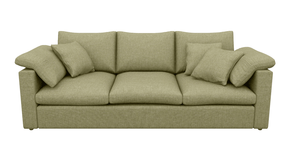 Green Extra Large 4 Seater Sofa Killarney spring | Big Softie ...