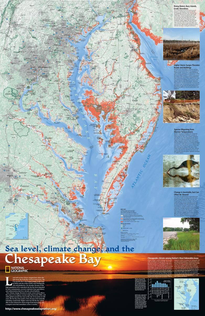 Sea Level Climate Change And The Chesapeake Bay National Geographic Society Chesapeake Chesapeake Bay Sea Level