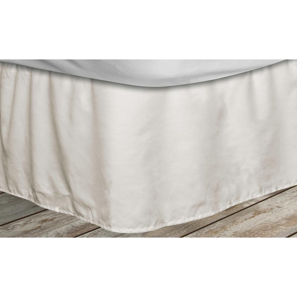 Quickfit Frita 15 In Beige Striped King Bed Skirt Frbbg 12 14973