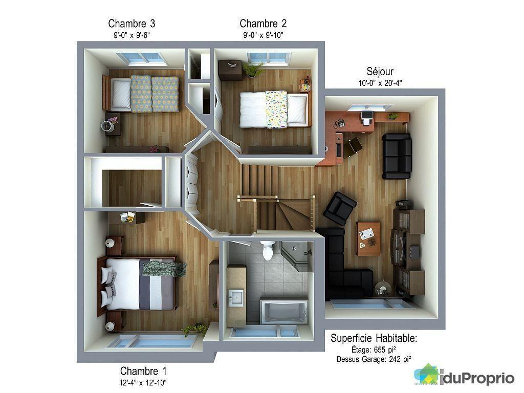 16 Plan De Maison Duplex Gratuit 4 Chambres Pdf Home Home Decor Decor