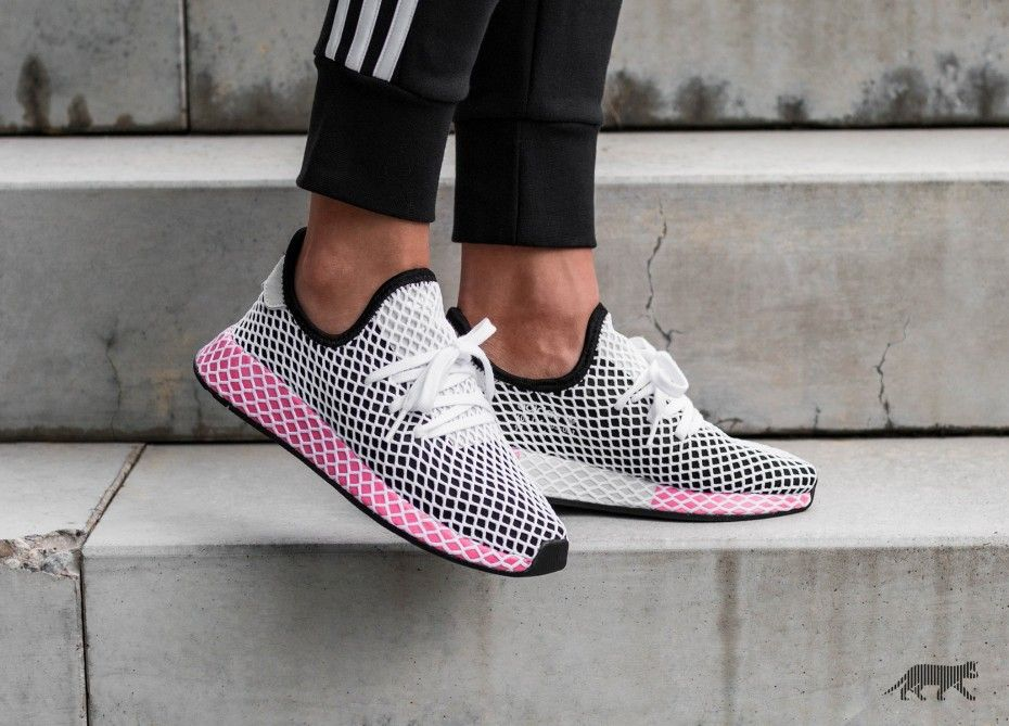 adidas Deerupt Runner W (Core Black / Core Black / Chalk ...