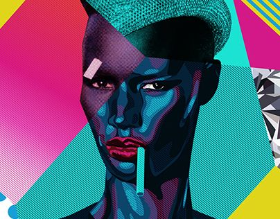 Grace Jones POP ART Diamond