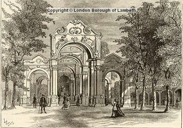 Garden Walk London: The Italian Walk At Vauxhall Gardens.'The Trees In These