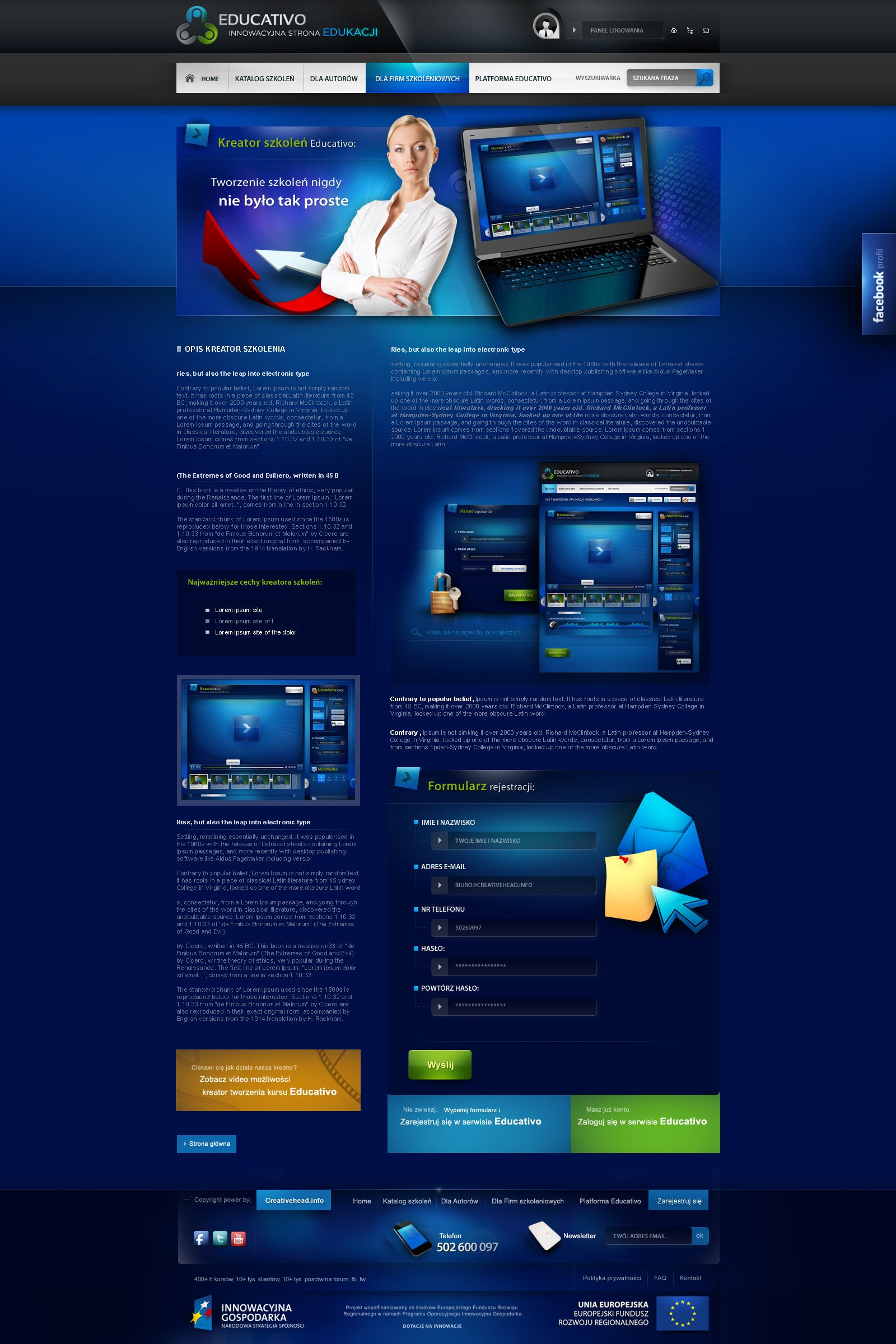Educativo e learning platform - subpage by webdesigner1921.deviantart.com on @deviantART
