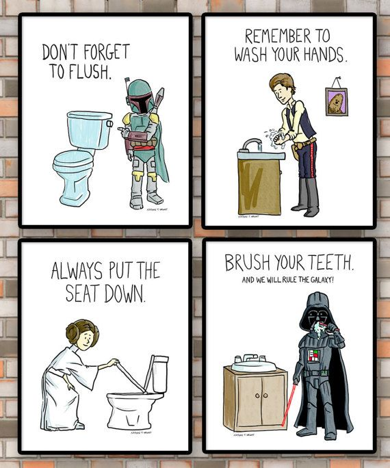 Printable Star Wars Kids Bathroom Rules