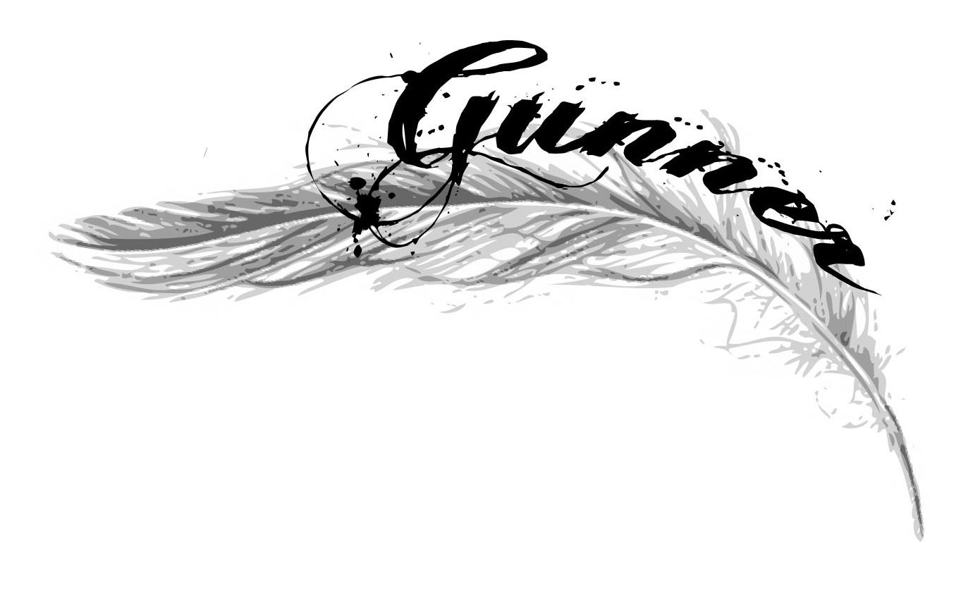 Potential tattoo, Gunner's name with angel feather.