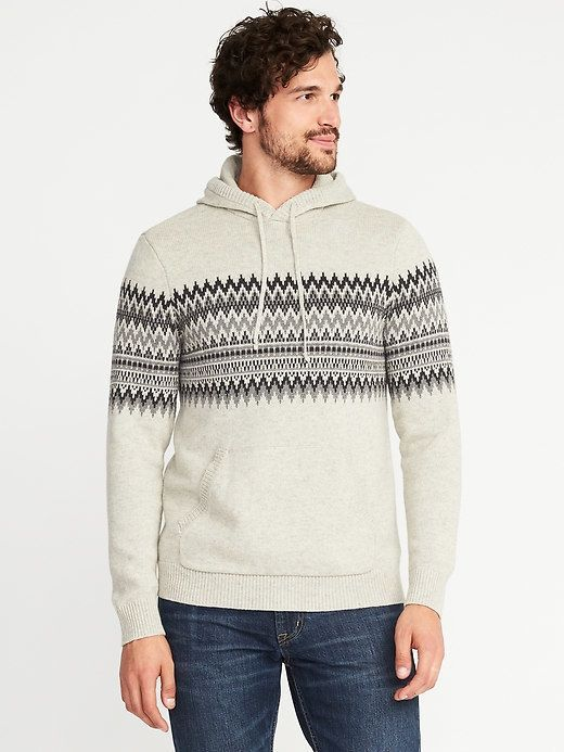Old Navy Fair Isle Sweater Hoodie for Men | Products