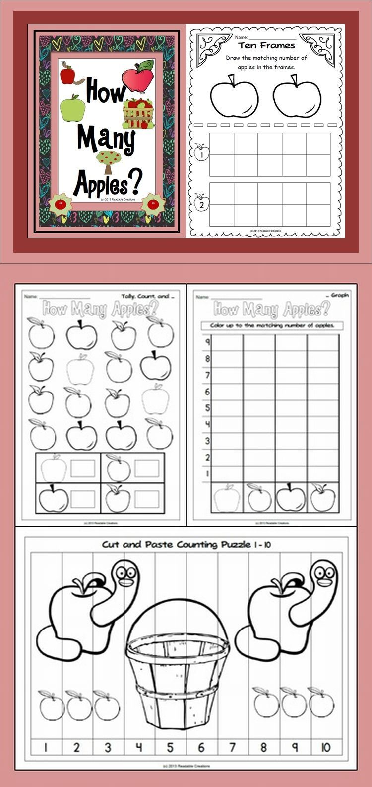 How Many Apples Math Counting Activities Math Counting