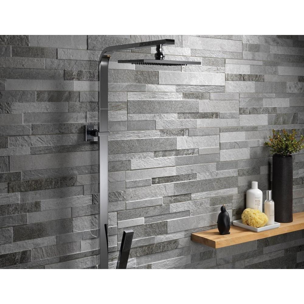 Barrington Silver Porcelain Panel Ledger Grey Wall Tiles Wall Tiles Grey Bathroom Tiles