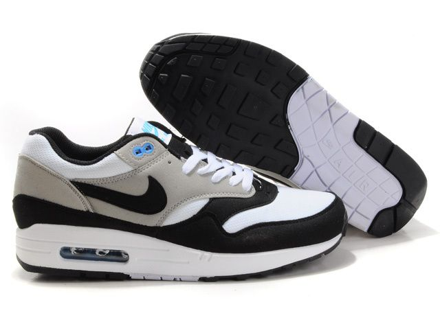 Wholesale Cheap Mens Black Neutral Grey White Nike Air Max 1 The Most  Flexible Shoes