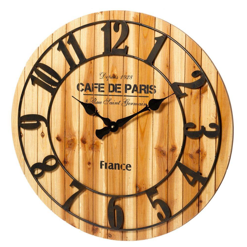 fe95e0742 Reloj de Pared Industrial en Mdf y Metal 4,5 x 68 x 68 cm ...