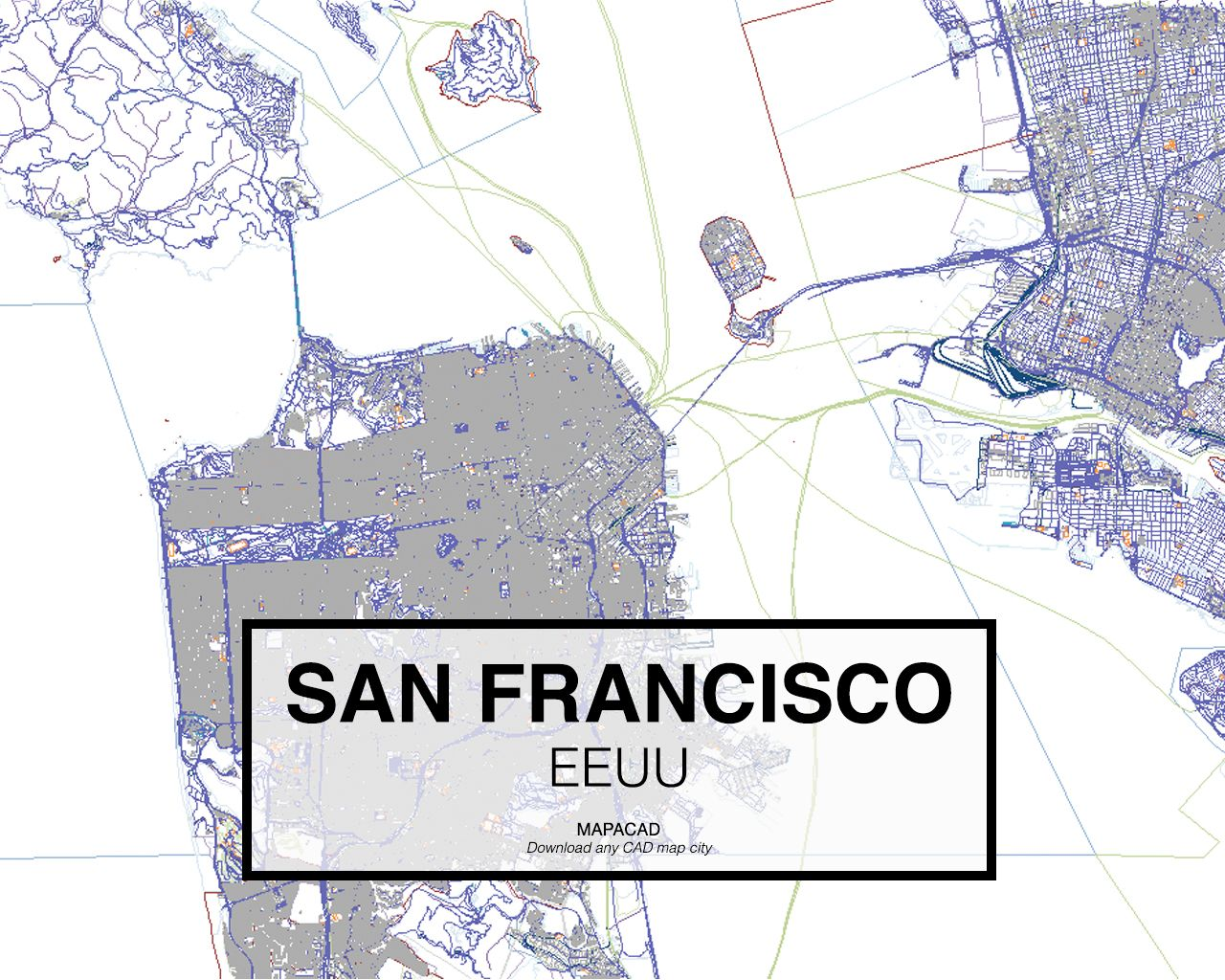 San francisco eeuu download cad map city in dwg ready to use in download cad map city in dwg ready to use in autocad gumiabroncs Gallery